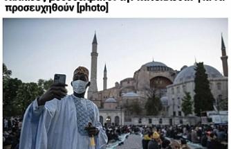 87 yıl sonra bir ilk: Ayasofya'da kılınan bayram namazı Yunanistan'ı rahatsız etti