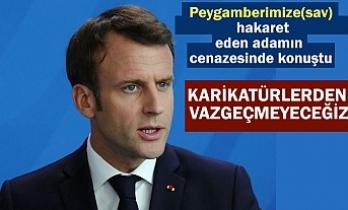 Macron: Karikatürlerden vazgeçmeyeceğiz