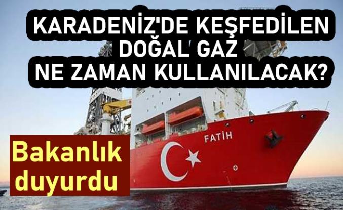 Karadeniz'de keşfedilen doğal gaz ne zaman kullanılacak? Bakanlık tarih verdi