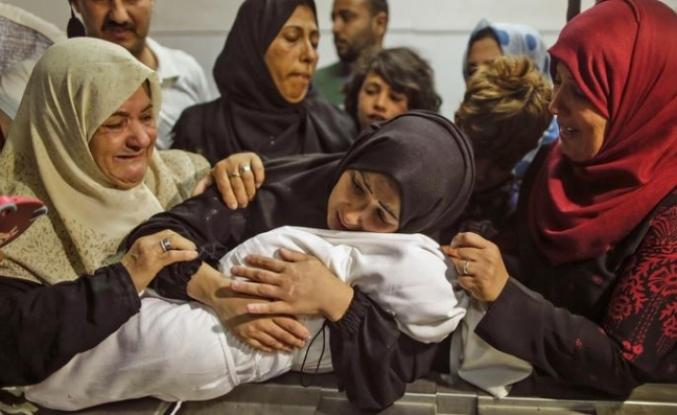 İşgalci İsrail'in Gazze'ye saldırılarında şehit sayısı 230'a yükseldi