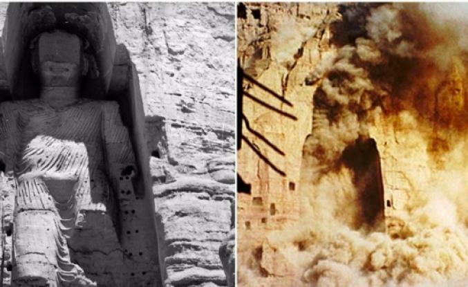 Bamyan Buda heykellerinin Taliban tarafından yıkım süreci